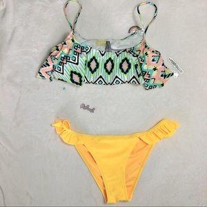 LA HEARTS& SHEKINI bikini set M ruffled